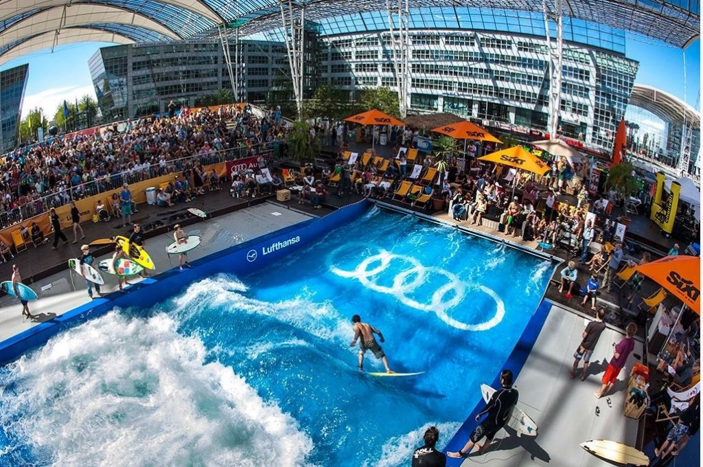 Munich Airport with Surfing Articial Standing Wave-min
