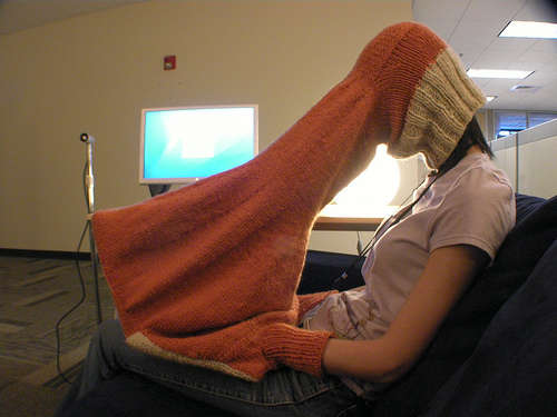 "I hope you never have to use this ""laptop compubody sock"" that completely eliminates glare on your computer screen."