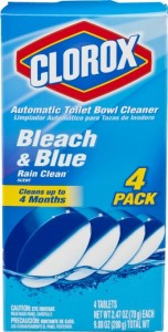 Automatic toilet bowl cleaner such as this helps clean your toilet every time you flush it.