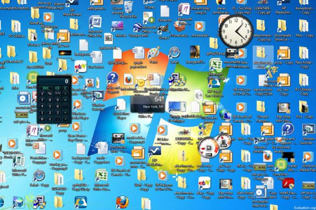 Here's a typical messy PC desktop. I've actually seen worse.