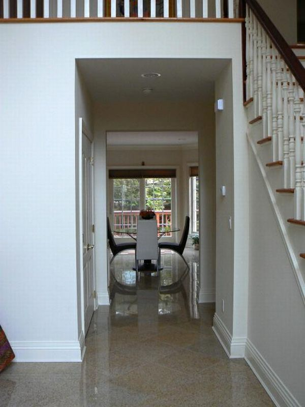 Placing Furniture In Between Is A Way To Remedy The Effects When Front Door Aligns