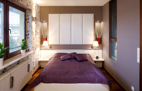 In small bedrooms, your bed is likely placed in both lucky and unlucky areas of your Kua.