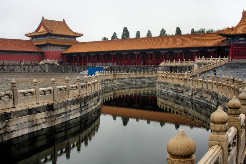 The Forbidden City in Beijing has a Golden Water River, a Feng Shui setup of water meandering along its premises.
