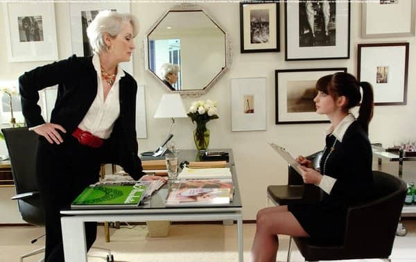 In This Image From The Movie Devil Wears Prada Mirror Just Barely Missed Facing Desk