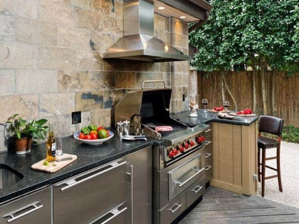 Having Your Main Kitchen Outside Of The House Is Not Ideal For Feng Shui.  It Is Also Harder To Maintain, And Its Use Greatly Depends On Weather.