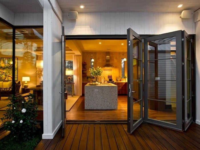 Feng shui cure when kitchen door and main door aligns for French doors both open