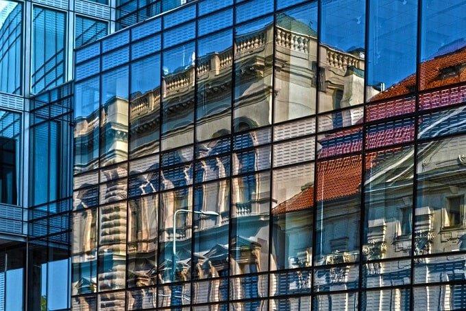 building glass reflection feng shui-min